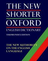 The new shorter Oxford English dictionary on historical principles: Vol. 1, A-M